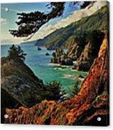 California Coastline Acrylic Print by Benjamin Yeager