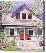 California Craftsman Cottage Acrylic Print by Patricia Pushaw