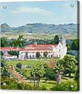 California Mission San Luis Rey Acrylic Print by Mary Helmreich