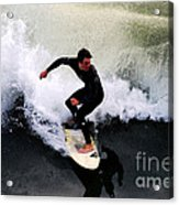 California Surfer Acrylic Print by Catherine Sherman