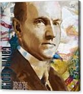 Calvin Coolidge Acrylic Print by Corporate Art Task Force