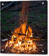 Camp Fire Acrylic Print by Boon Mee