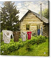 Camp Leconte Acrylic Print by Debra and Dave Vanderlaan