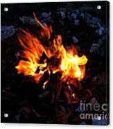 Campfire Acrylic Print by Boon Mee