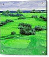 Campo Da Golf Acrylic Print by Guido Borelli