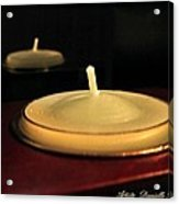 Candles And Relaxation Acrylic Print by Danielle  Parent
