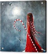 Candy Cane Fairy By Shawna Erback Acrylic Print by Shawna Erback