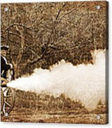 Cannon Fire Acrylic Print by Mark Miller