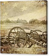 Cannons At Pea Ridge Acrylic Print by Pam  Holdsworth
