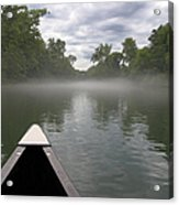 Canoeing The Ozarks Acrylic Print by Adam Romanowicz