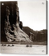 Canonde Chelly Az 1904 Acrylic Print by Edward S Curtis