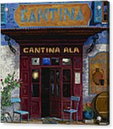 cantina Ala Acrylic Print by Guido Borelli