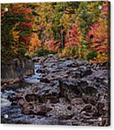 Canyon Color Rushing Waters Acrylic Print by Jeff Folger