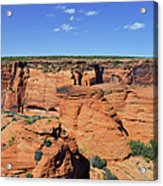 Canyon De Chelly From Sliding House Overlook Acrylic Print by Christine Till
