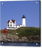 Cape Neddick Light Station In Maine Acrylic Print by Mountain Dreams