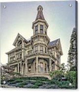 Captain George Flavel Victorian House - Astoria Oregon Acrylic Print by Daniel Hagerman