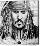 Captain Jack Sparrow 2 Acrylic Print by Andrew Read