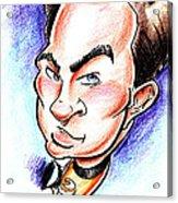 Captain Kirk Acrylic Print by Big Mike Roate