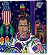 Captain Mitt Romney - American Dream Warrior Acrylic Print by Robert SORENSEN