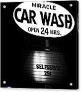 Car Wash Acrylic Print by Tom Mc Nemar