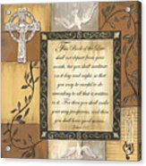Caramel Scripture Acrylic Print by Debbie DeWitt