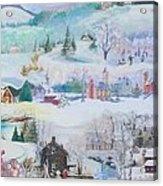 Cardinal In The Snow - Sold Acrylic Print by Judith Espinoza