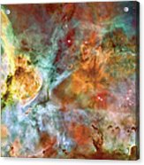 Carina Nebula - Interpretation 1 Acrylic Print by The  Vault - Jennifer Rondinelli Reilly