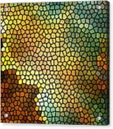 Carina Nebula Mosaic  Acrylic Print by The  Vault - Jennifer Rondinelli Reilly