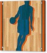 Carmelo Anthony New York Knicks Acrylic Print by Joe Hamilton