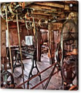 Carpenter - This Old Shop Acrylic Print by Mike Savad