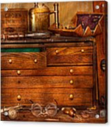 Carpentry - Tools - In My Younger Days  Acrylic Print by Mike Savad