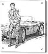 Carroll Shelby And Csx 2000 Acrylic Print by David Lloyd Glover