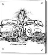 Carroll Shelby And The Cobras Acrylic Print by David Lloyd Glover