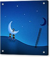 Carry The Moon Acrylic Print by Gianfranco Weiss
