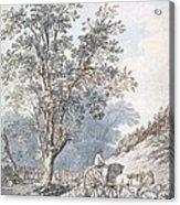 Cart And Horse Acrylic Print by Joseph Constantine Stadler