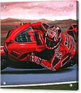 Casey Stoner On Ducati Acrylic Print by Paul Meijering