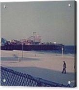 Casino Pier Seaside Heights Nj Acrylic Print by Joann Renner