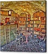 Castle Map Room Acrylic Print by Susan Candelario