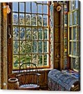 Castle Office Acrylic Print by Susan Candelario