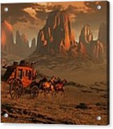 Castles In The Sand Acrylic Print by Dieter Carlton