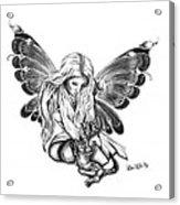 Cat Fairy  Acrylic Print by Peter Piatt