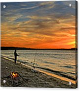Catching The Sunset Acrylic Print by Steven  Michael