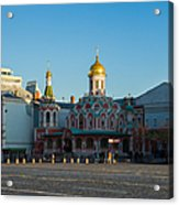Cathedral Of Our Lady Of Kazan - Square Acrylic Print by Alexander Senin
