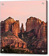 Cathedral Rock Sunset Acrylic Print by Mary Jo Allen
