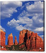 Cathedral Rock Acrylic Print by Tom Kelly