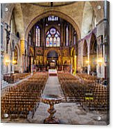Cathedrale Saint-etienne Interior / Cahors Acrylic Print by Barry O Carroll