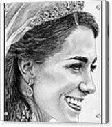 Catherine - Duchess Of Cambridge In 2011 Acrylic Print by J McCombie