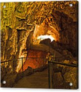 Cavern Aglow Acrylic Print by Kenan Sipilovic