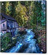 Cedar Creek Grist Mill Acrylic Print by Puget  Exposure