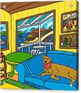 Cedar Key Snoozer Acrylic Print by Mike Segal